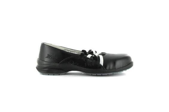 Ballerine travail femme Dahlia Gaston Mille Chaussures-pro.fr noir vue 1