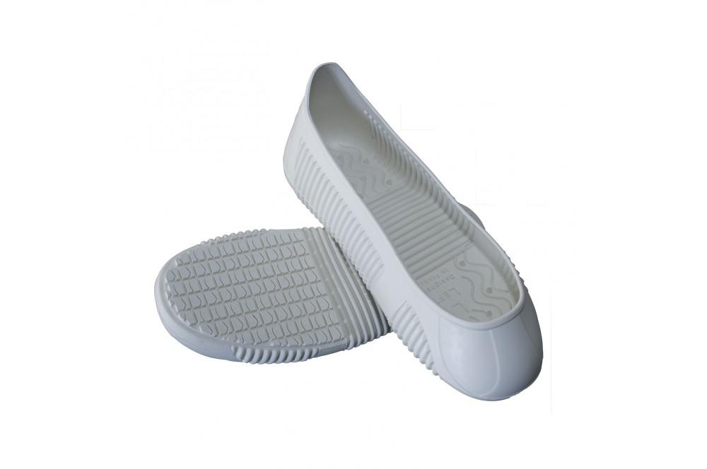 Sur chaussure anti dérapante étanche Easy Grip blanc