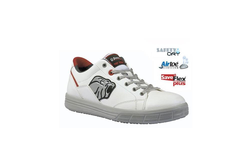 Tennis de securite respirante dover blanche s3 upower chaussures pro - Chaussure de securite blanche ...