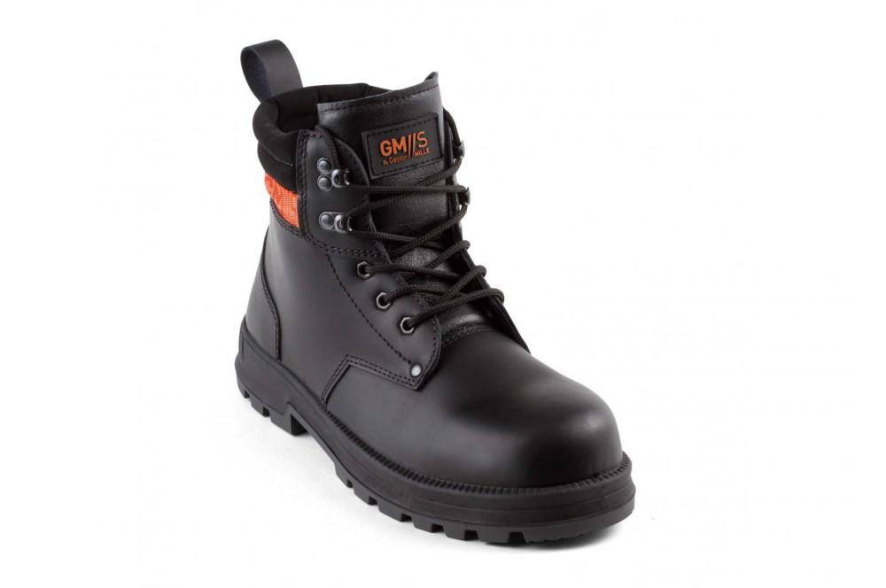 Chaussure de s curit btp montante monster black gaston - Chaussure de securite montante ...
