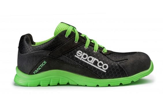 Basket securite practice S1P noir verte Sparco Chaussures-pro.fr