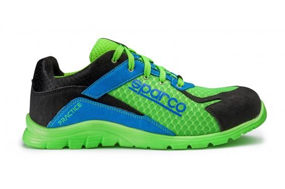 Basket securite practice S1P vert bleu Sparco Chaussures-pro.fr
