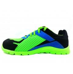 Basket securite practice S1P vert bleu Sparco Chaussures-pro.fr vue 1
