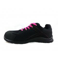 Basket securite femme practice S1P noir rose Sparco Chaussures-pro.fr vue 1