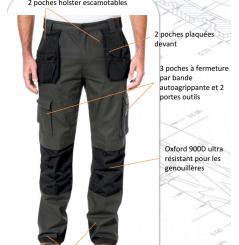 Pantalon travail trademark coupe slim Caterpillar Chaussures-pro.fr