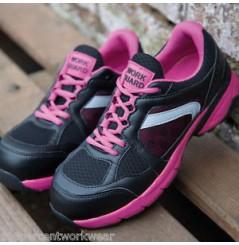 Basket securite femme S1P Pink Result Chaussures-pro.fr vue 3