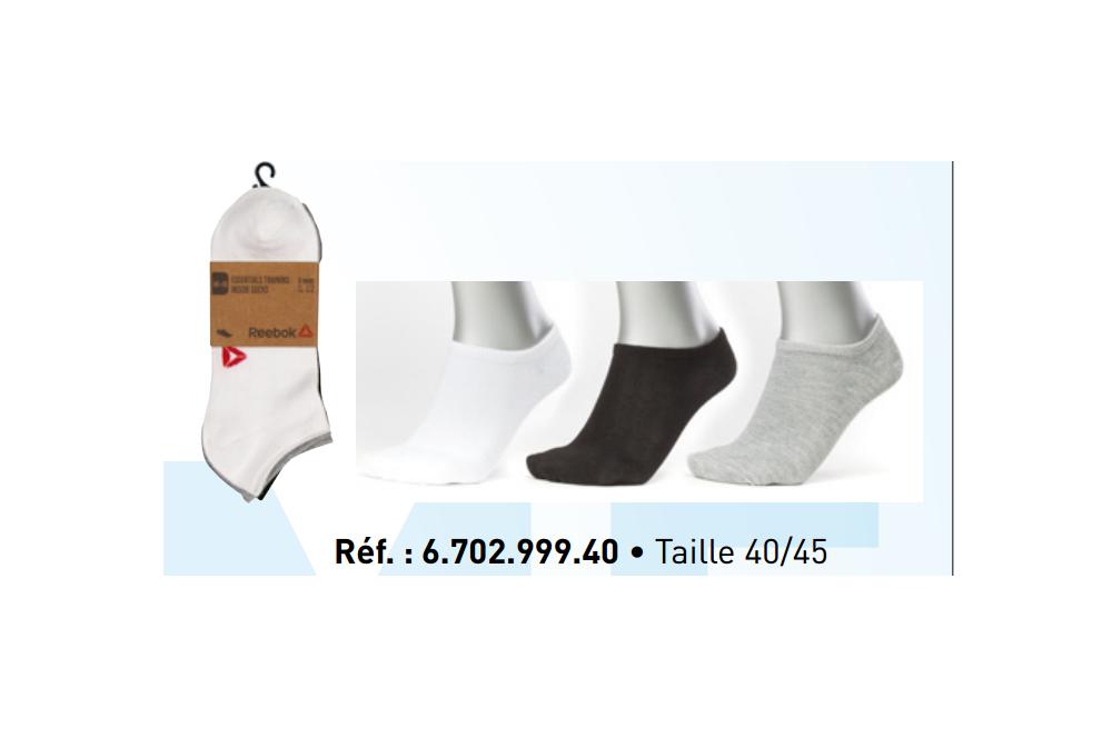 Lot de 3 paires de chaussettes courtes Quarter Reebok