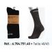 Lot de 3 paires de chaussettes crew noir Reebok