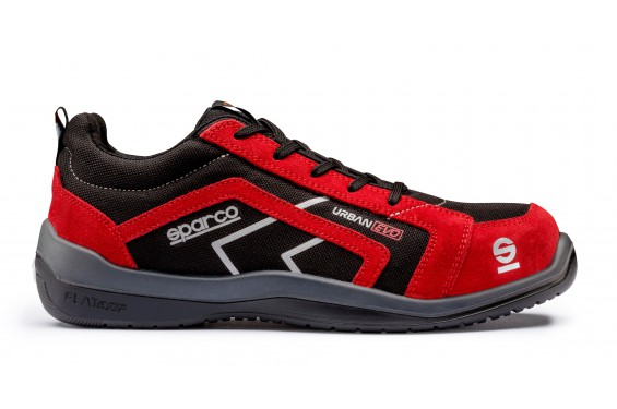 Basket securite Sparco urban evo S1P rouge Chaussures-pro.fr