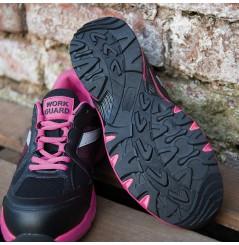 Basket securite femme S1P Pink Result Chaussures-pro.fr vue 4