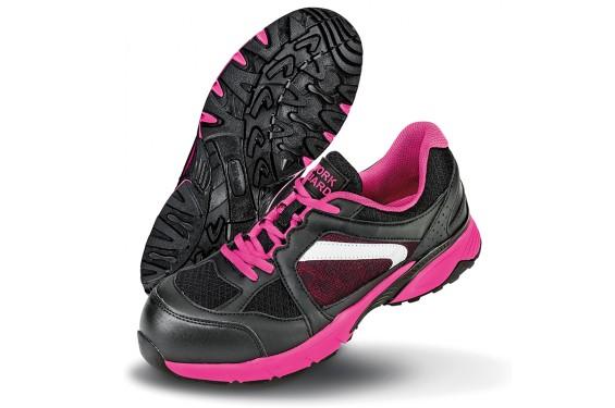 Basket securite femme S1P Pink Result Chaussures-pro.fr