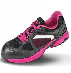Basket securite femme S1P Pink Result Chaussures-pro.fr vue 2