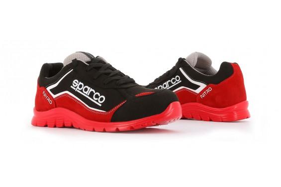 Basket securite souple nitro S3 rouge noir Sparco Chaussures-pro.fr