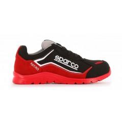 Basket securite souple nitro S3 rouge noir Sparco Chaussures-pro.fr vue 1