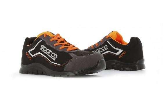 Basket securite souple nitro S3 gris noir Sparco Chaussures-pro.fr
