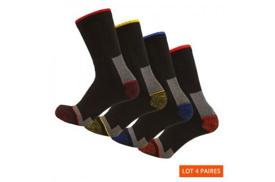 Chaussettes travail resistantes lot 4 Elios LMA Chaussures-pro.fr