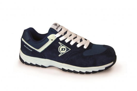 Basket securite legere Dunlop flying arrow S3 navy blue Chaussures-pro.fr