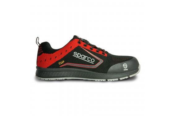 Basket securite legere CUP noir rouge s1p src Sparco Chaussures-pro.fr