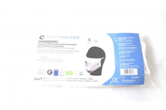 Masque tissu reutilisable norme AFNOR lot 5 Chaussures-pro.fr
