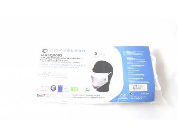 Masque en tissu réutilisable norme AFNOR en lot de 5