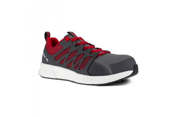 Basket securite legere S1P SRC fusion gris rouge Reebok chaussures-pro