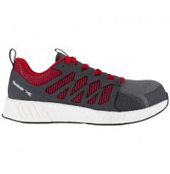 Basket securite legere S1P SRC fusion gris rouge Reebok chaussures-pro vue 1
