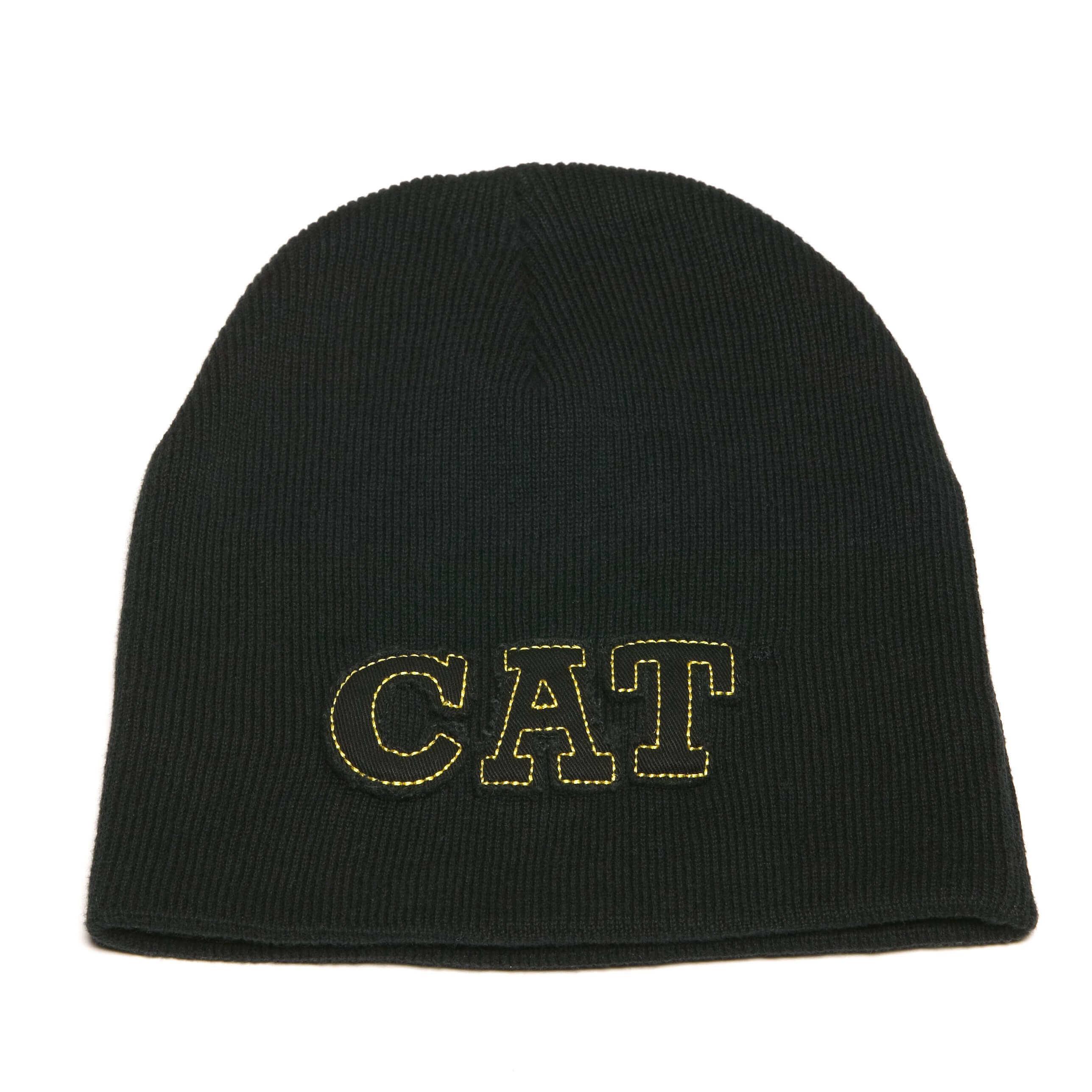 Bonnet brodé noir CAT