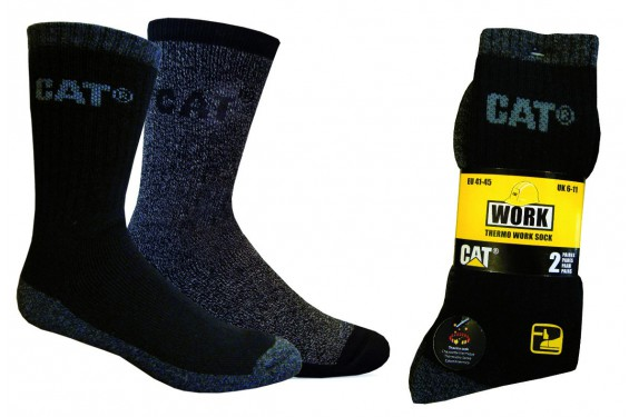 Chaussette travail lot 2 thermo Caterpilar Chaussures-pro.fr