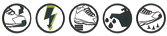 logo normes EN ISO 20345 S1P